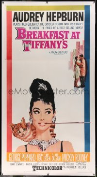 5b034 BREAKFAST AT TIFFANY'S linen 3sh '62 classic McGinnis art of sexy elegant Audrey Hepburn!