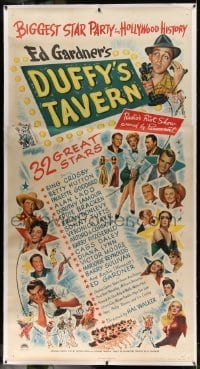 5b037 DUFFY'S TAVERN linen 3sh '45 art of Paramount's biggest stars including Lake, Ladd & Crosby!