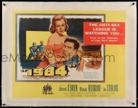 5b067 1984 linen 1/2sh '56 Edmond O'Brien & Jan Sterling being watched at home, George Orwell