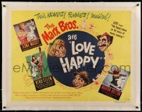 5b080 LOVE HAPPY linen style B 1/2sh '49 Marx Brothers and sexy girls in musical Girlesque!