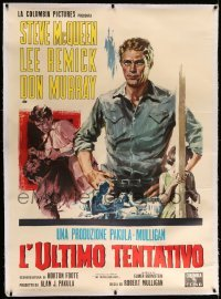 5b007 BABY THE RAIN MUST FALL linen Italian 1p '65 different art of Steve McQueen & Lee Remick!