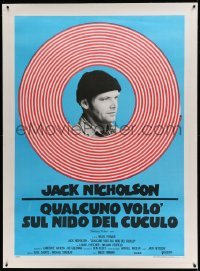 5b009 ONE FLEW OVER THE CUCKOO'S NEST linen Italian 1p R70s Jack Nicholson & Milos Forman classic!