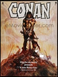5c013 CONAN THE BARBARIAN 30x40 '80 Frank Frazetta art, not used when it was made 2 years later!