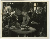 5c018 BRIDE OF FRANKENSTEIN 8x10.25 still '35 incredible image of Karloff scared of Heggie's fire!