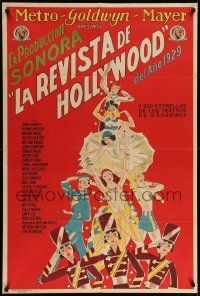 5c006 HOLLYWOOD REVUE Argentinean '29 great different art of chorus girls, MGM all-star revue!