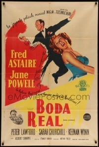 5c007 ROYAL WEDDING Argentinean '53 great art of dancing Fred Astaire & Jane Powell, Stanley Donen