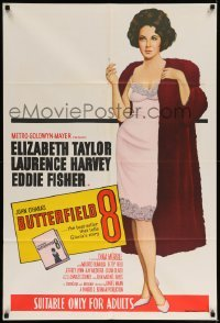 5c004 BUTTERFIELD 8 Aust 1sh R60s full-length art of the most desirable callgirl, Elizabeth Taylor