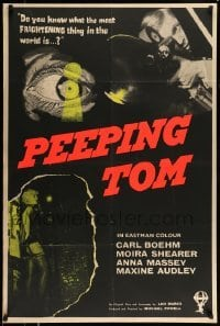 5c002 PEEPING TOM export English 1sh '61 Michael Powell voyeur classic, different & ultra rare!
