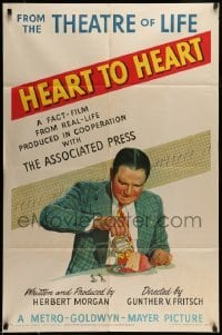 5c031 HEART TO HEART 1sh '49 the new problem of heart disease caused by stress & overeating, rare!