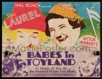 5c016 BABES IN TOYLAND herald '34 great art of Laurel & Hardy in the funniest picture ever made!