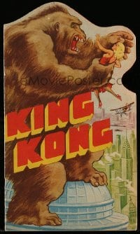 5c017 KING KONG die-cut herald '33 many wonderful special effects scenes with great monster art!