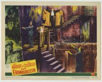 5c061 ABBOTT & COSTELLO MEET FRANKENSTEIN LC #3 '48 Bud & Lou trapped by Lugosi & Strange, rare!
