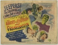 5c058 ABBOTT & COSTELLO MEET FRANKENSTEIN TC '48 plus Wolfman & Dracula after scared Bud & Lou!