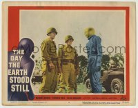 5c078 DAY THE EARTH STOOD STILL LC #4 '51 Robert Wise, Michael Rennie as Klaatu by soldiers!