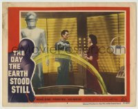 5c077 DAY THE EARTH STOOD STILL LC #5 '51 Michael Rennie, Patricia Neal & Gort in ship!