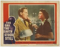 5c080 DAY THE EARTH STOOD STILL LC #8 '51 Patricia Neal watches Hugh Marlowe on phone, classic!