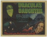 5c097 DRACULA'S DAUGHTER TC '36 evil Gloria Holden gives you that weird feeling, ultra rare!
