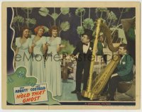 5c069 HOLD THAT GHOST LC '41 The Andrews Sisters sing along with Ted Lewis in tuxedo by harp!