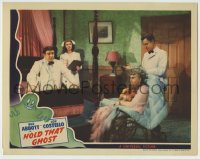 5c071 HOLD THAT GHOST LC '41 Bud Abbott & Lou Costello with Joan Davis & Madge Crane in wheelchair!