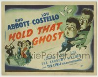 5c066 HOLD THAT GHOST TC '41 great art of scared Bud Abbott & Lou Costello, plus Andrews Sisters!
