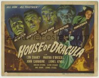 5c103 HOUSE OF DRACULA TC '45 wonderful images of all the best most classic monsters, ultra rare!