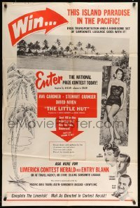 5c037 LITTLE HUT 1sh '57 special promotion for trip to island paradise in Pacific, ultra rare!
