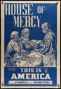 5c048 THIS IS AMERICA: HOUSE OF MERCY 1sh '50 cool art, community hospitals serving locals, rare!