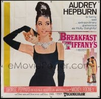 5d123 BREAKFAST AT TIFFANY'S 6sh '62 classic McGinnis art of sexy Audrey Hepburn w/ kitten, rare!