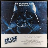 5d121 EMPIRE STRIKES BACK 6sh '80 George Lucas sci-fi classic, giant Darth Vader head in space!
