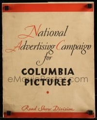 5d055 NATIONAL ADVERTISING CAMPAIGN FOR COLUMBIA PICTURES studio brochure '33 magazines & radio!