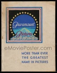5d025 PARAMOUNT FIRST QUARTER 1935-36 campaign book '35 Carole Lombard, Hopalong Cassidy, Popeye!