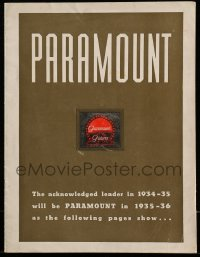 5d022 PARAMOUNT 1934-35/1935-36 campaign book '35 acknowledged leader in 1935 will also be in 1936