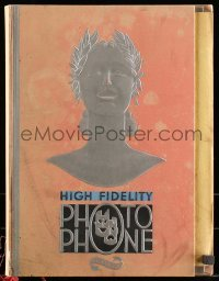 5d060 RCA VICTOR HIGH FIDELITY PHOTOPHONE hardcover promotional book '29 sound-to-film technology!