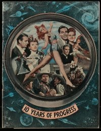 5d038 REPUBLIC PICTURES 1945 campaign book '45 10 years of progress & news on what's coming, rare!
