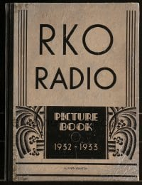 5d026 RKO RADIO PICTURES 1932-33 foil hardcover campaign book '32 incredible King Kong 2-page ad!