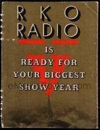5d027 RKO RADIO PICTURES 1937-38 campaign book '37 lots of Astaire & Rogers, wonderful art!