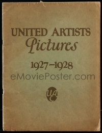 5d028 UNITED ARTISTS 1927-28 campaign book '26 wonderful full-page art of Chaplin, Keaton & more!