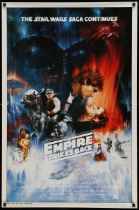 5d182 EMPIRE STRIKES BACK test 1sh '80 best unedited Roger Kastel art w/ added images, very rare!