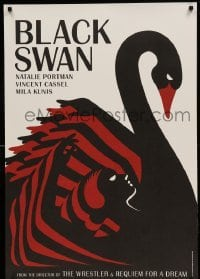 5d227 BLACK SWAN 4 heavy stock teaser English 1sheets '10 striking La Boca deco art, complete set!