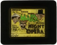 5d006 NIGHT AT THE OPERA glass slide '35 Hirschfeld art of Marx Brothers Groucho, Chico & Harpo!