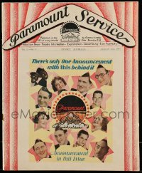 5d050 PARAMOUNT SERVICE Australian exhibitor magazine August 15, 1930 Marx Brothers & more!