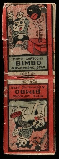 5d004 BIMBO FLIPBOOK 2x5 cartoon flip book '30s turn the pages and watch the cartoon move!