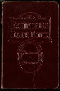 5d014 PARAMOUNT DATE BOOK 1931-32 4x6 hardcover exhibitor's date book '31 Mummy took in $76.50!