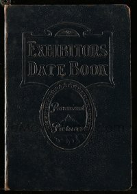 5d015 PARAMOUNT DATE BOOK 1932-33 5x6 hardcover exhibitor's date book '32 reused in 1935!
