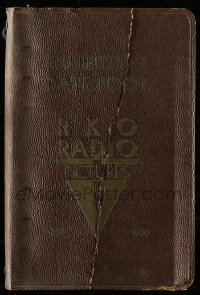 5d016 RKO RADIO PICTURES DATE BOOK 1935-36 5x7 hardcover exhibitor's date book '35 six-ring binder