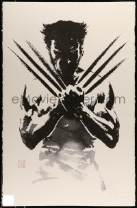 5d107 WOLVERINE signed & numbered 26x40 art print '13 by Hugh Jackman, Suren Galadjian art, rare!