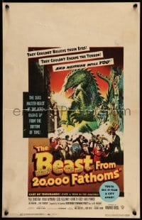 5d063 BEAST FROM 20,000 FATHOMS WC '53 Ray Bradbury tale of the sea's master beast of the ages!