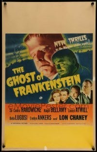 5d068 GHOST OF FRANKENSTEIN WC '42 monster Lon Chaney Jr., Bela Lugosi, Evelyn Ankers, ultra rare!