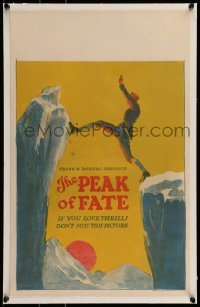5d073 PEAK OF FATE linen WC '24 Arnold Fanck, if you love mountain climbing thrills, don't miss it!