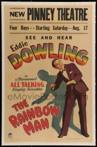 5d074 RAINBOW MAN linen WC '29 see & hear Eddie Dowling, the all-talking-singing sensation!